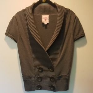Pink Republic Grey Short Sleeve Sweater/Vest.
